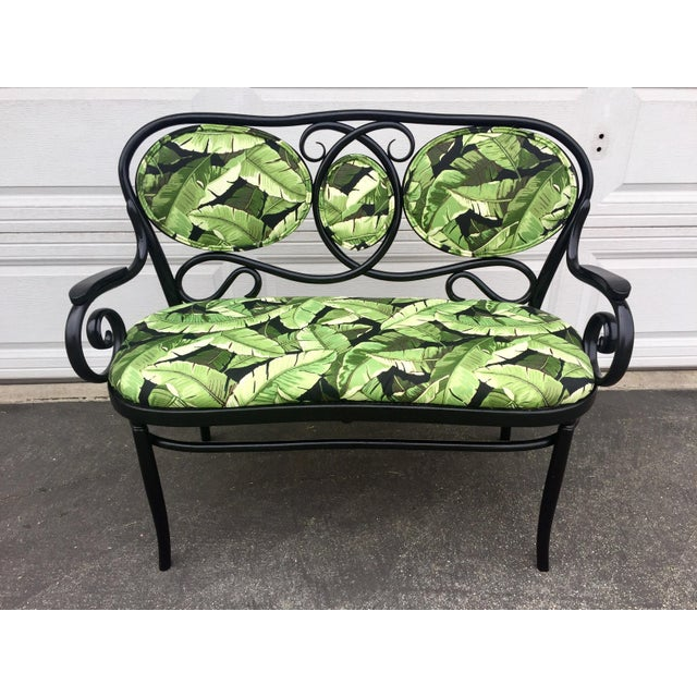 Green Vintage Thonet Bentwood Bench For Sale - Image 8 of 8