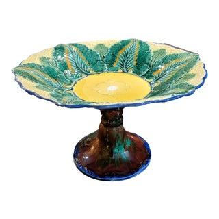 Wedgwood Majolica Cauliflower Pattern Compote Pedestal Bowl, Circa 1879 For Sale