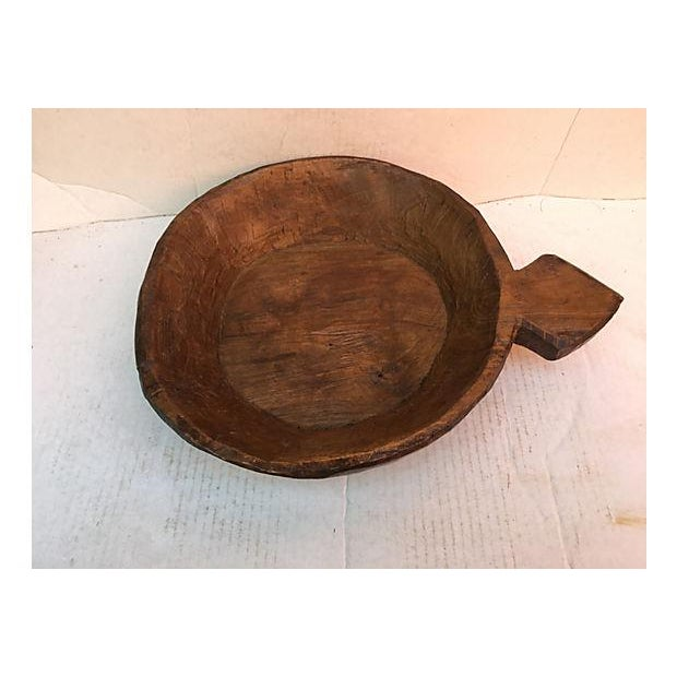 Rustic Farm House Rustic Wooden Dough Bowl For Sale - Image 3 of 6