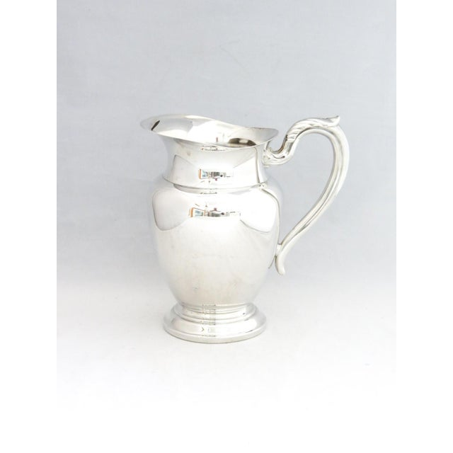 Traditional 1950s Silver Water Pitcher W/Ice Shield For Sale - Image 3 of 6