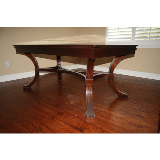 Williams-Sonoma Home Solid Mahogany Dining Table For Sale In Los Angeles - Image 6 of 10