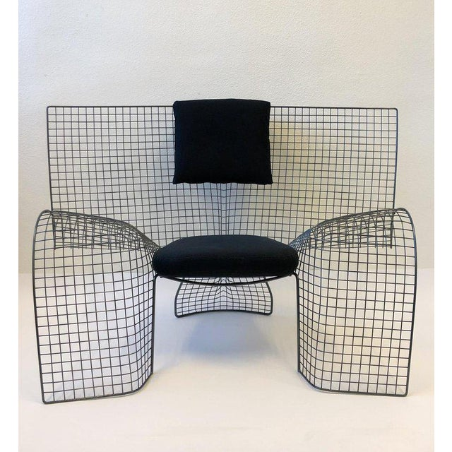 1990s Memphis Steel Mesh Chair by D'Urbino Lomazzi for Zerodesigno For Sale - Image 5 of 11