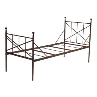 Antique French Iron Daybed For Sale