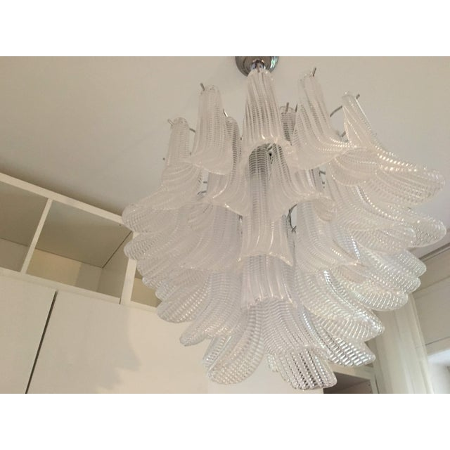 "Modern Murano Glass ""Selle"" Sputnik Chandelier For Sale - Image 6 of 11"