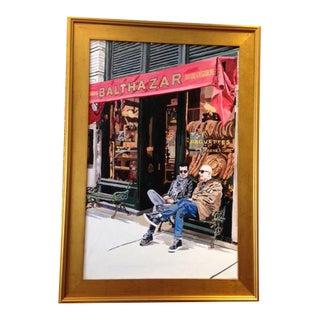 "Gold Framed ""Balthazar"" Original Acrylic Painting For Sale"