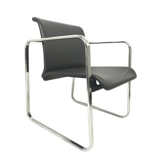 Peter Protzman for Herman Miller Slate Gray & Chrome Frame Chair