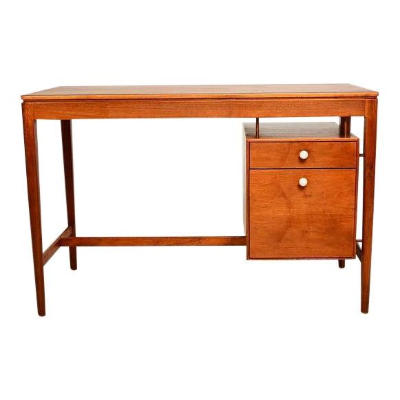 Mid Century Modern Walnut Desk by Drexel Kipp Stewart For Sale