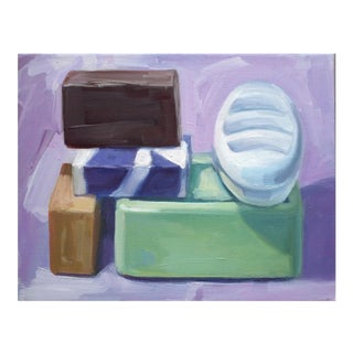 Soaps (Purple) Print by Paula McCarty For Sale