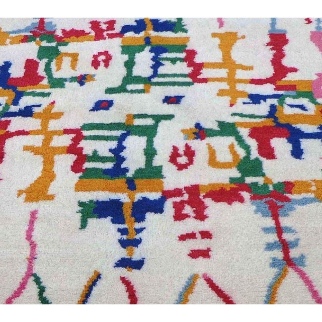 Genuine Fine Moroccan. Very Decorative. The modern style of this rug will give your room a contemporary accent. 100%...
