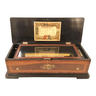 Antique Swiss Music Box With 12 Airs, Circa 1890.