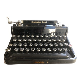 1936 Remington Rand Noiseless Portable Model 1 Typewriter For Sale