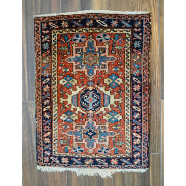 "Vintage Persian Heriz Rug - 2' x 2'8"" - Image 2 of 8"