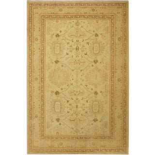 1950's Contemporary Ziegler Sun-Faded Siobhan Beige Wool Rug -9'0 X 12'0 For Sale
