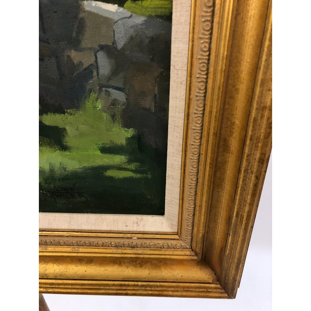 Paint Traditional Sunny Afternoon Original Painting by Line Tutwiler For Sale - Image 7 of 11