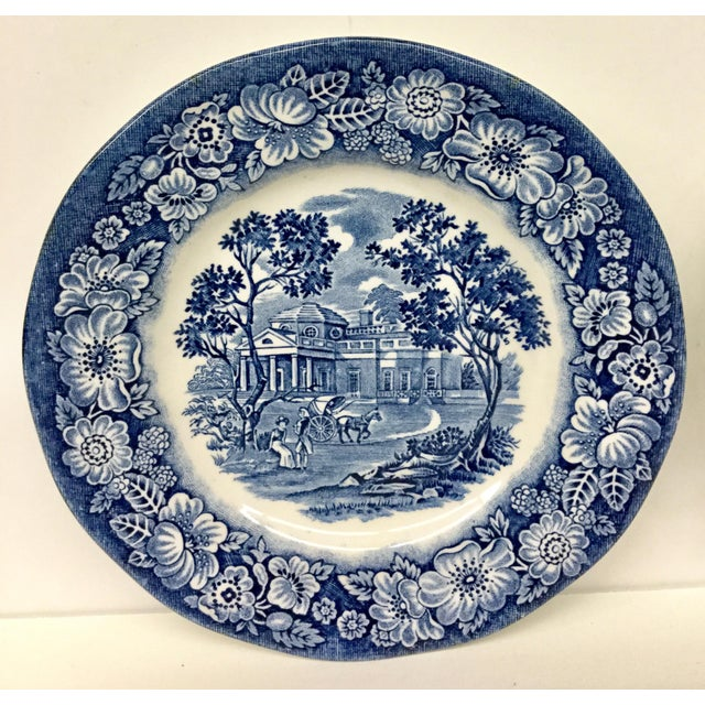 Shabby Chic 1950s Boho Chic Stoneware England Butter or Pickle Plates - a Pair For Sale - Image 3 of 9