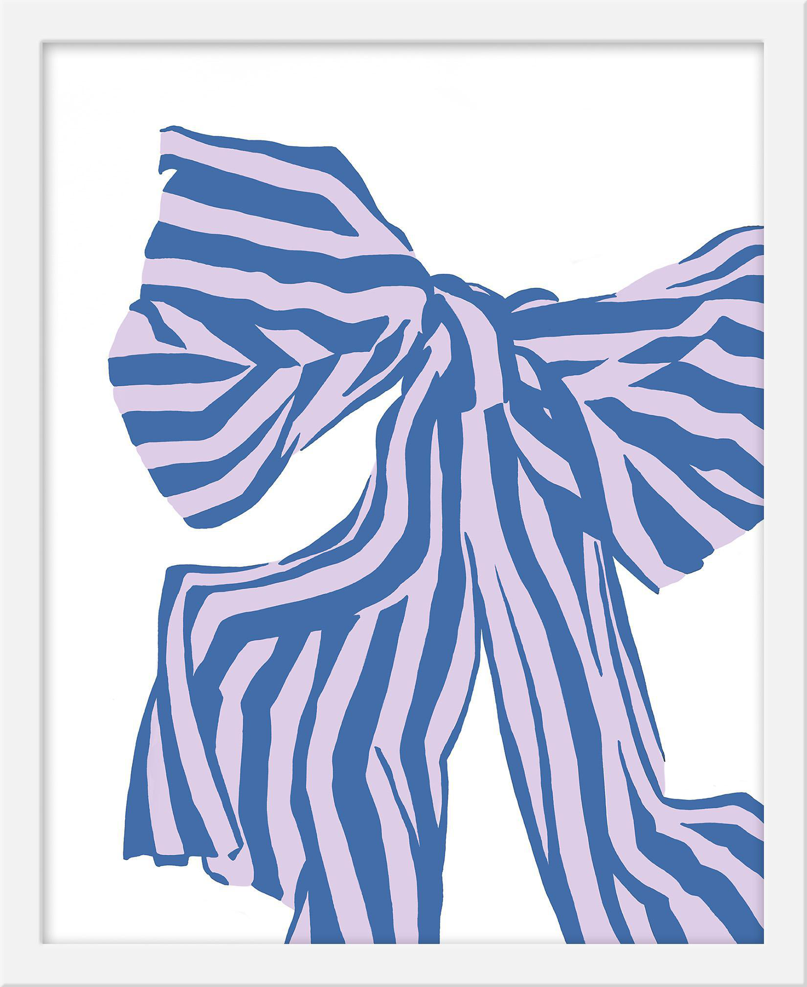 "Small ""Lilac Bow"" Print by Angela Chrusciaki Blehm, 16"" X 20"" - Image 1 of 2"