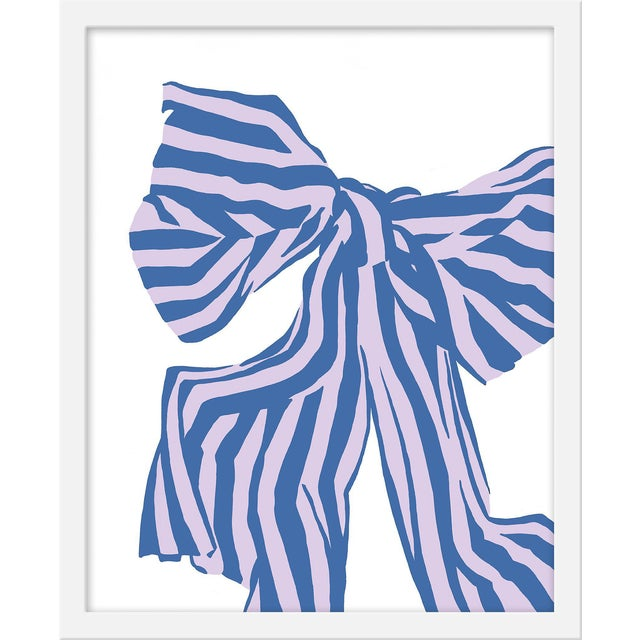 "Small ""Lilac Bow"" Print by Angela Chrusciaki Blehm, 16"" X 20"" For Sale"
