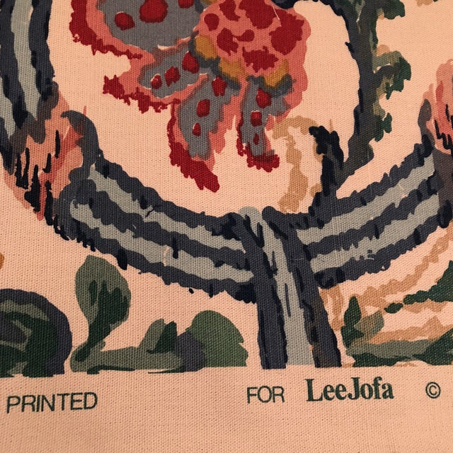 "Lee Jofa's ""New Sevilla"" in Multi Linen Fabric - Almost 3 Yds - Image 5 of 7"