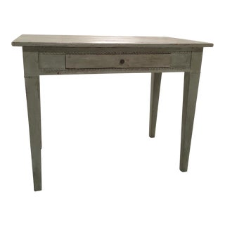 19th C. Painted Gustavian Table For Sale