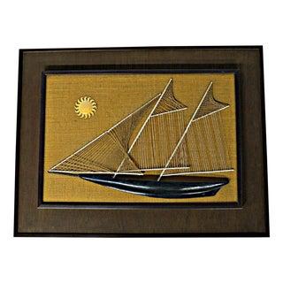 Sailboat String & Nail Ship Hanging Art For Sale