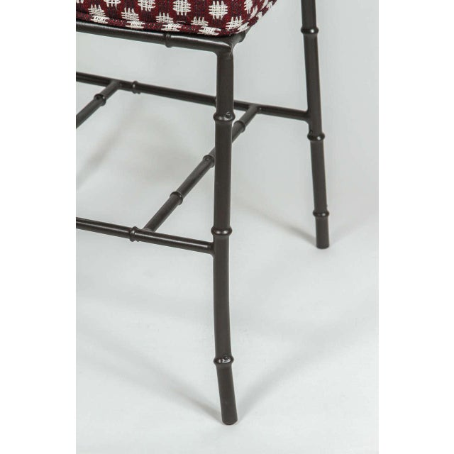 Metal Faux Bamboo Chairs - Pair - Image 3 of 7
