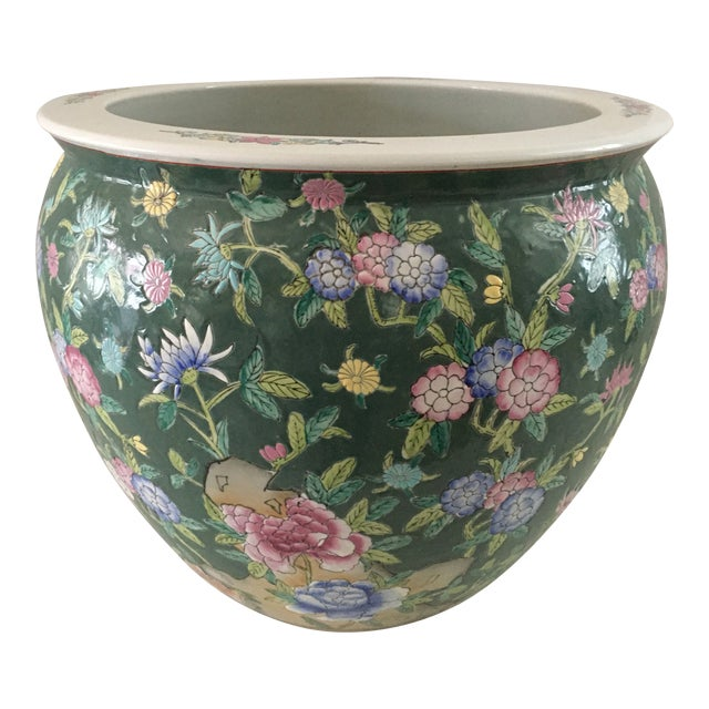 Late 20th Century Chinese Fish Bowl Planter For Sale