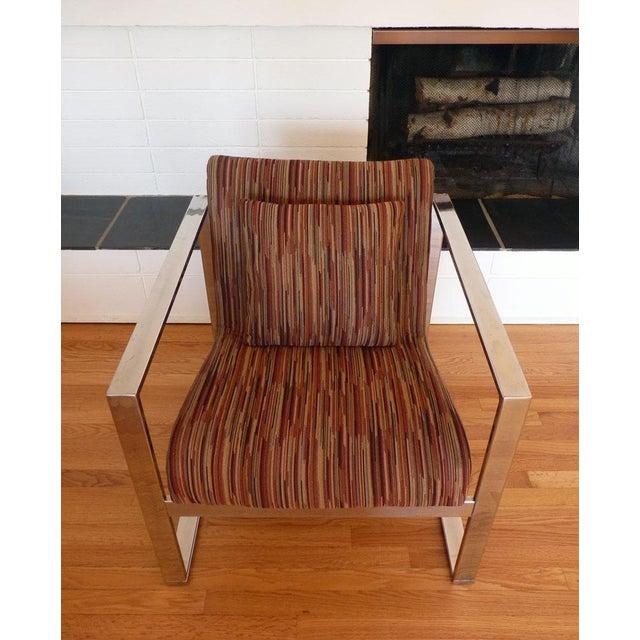 Milo Baughman MCM Chrome Lounge Chair - Image 8 of 9