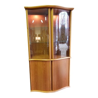 1960s Mid-Century Modern Teak Skovby China Display Cabinet For Sale