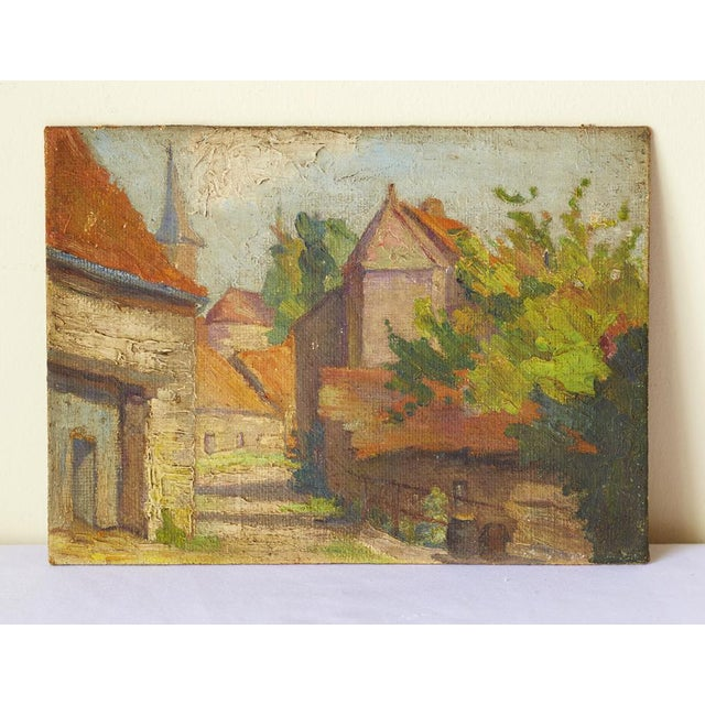 Mid-Century French Village Impressionist Painting - Image 2 of 6