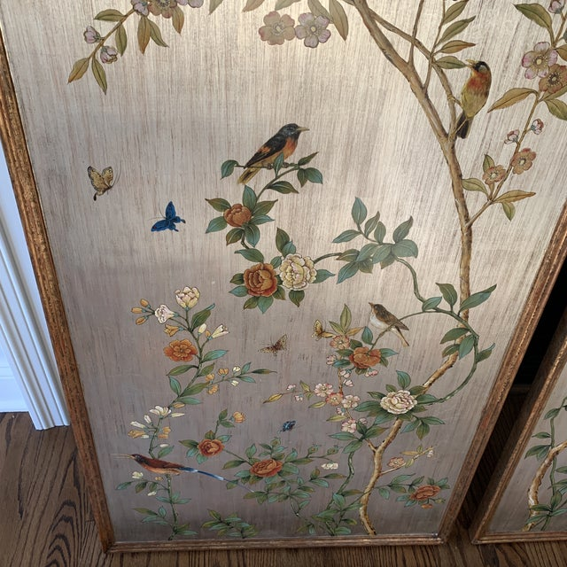 Hand Painted Chinoiserie Wall Panels- a Pair For Sale In New York - Image 6 of 13