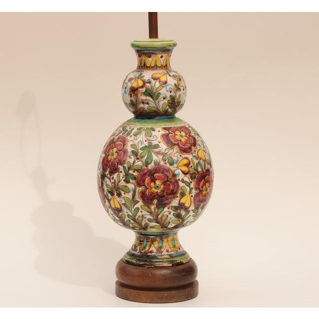 Monumental Italian Sgraffito Table Lamp - Image 4 of 7
