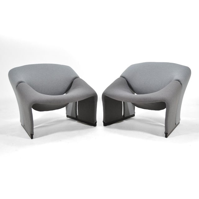 Artifort Pair of Pierre Paulin Model F580 Lounge Chairs by Artifort For Sale - Image 4 of 12