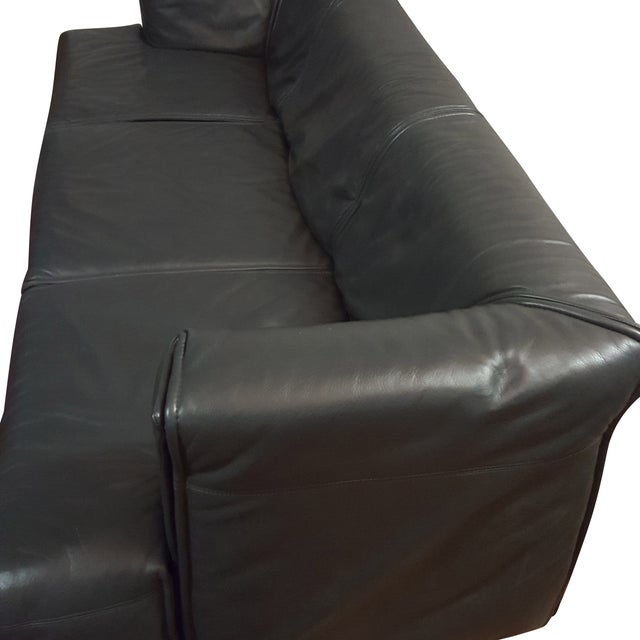 Italian Modern Leather Couch - Image 2 of 5