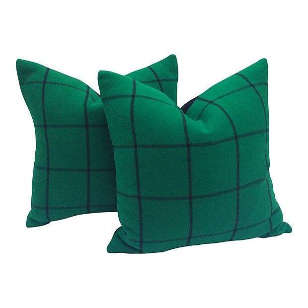 Ralph Lauren Cashmere Plaid Pillows - A Pair - Image 4 of 4