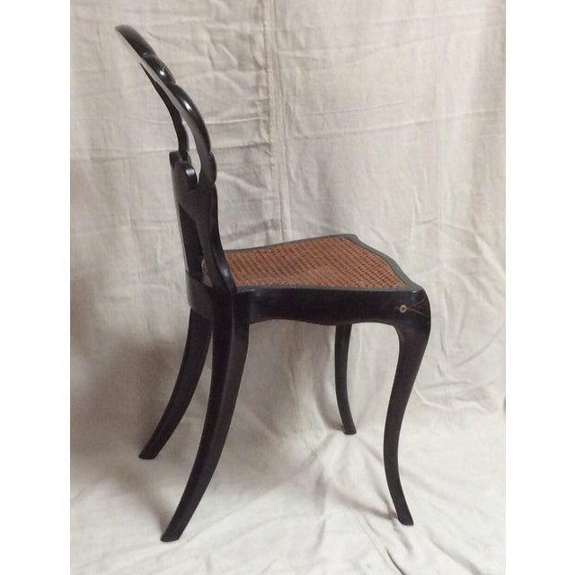 Italian Lacquered Chair With Mother of Pearl For Sale - Image 10 of 11