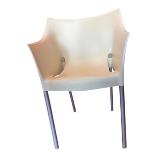 Minimalistic Philippe Starck for Kartell White Plastic Arm Chair