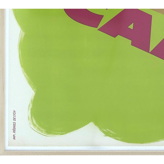 """1960s French """"Camping"""" Lithographic Poster by Obrad Nicolitch, 1967 For Sale - Image 5 of 10"""
