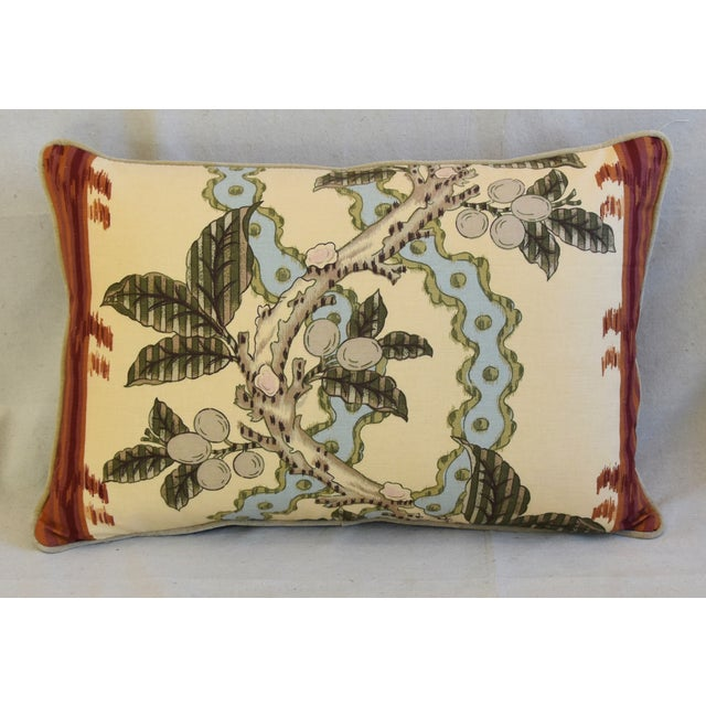 "Boho Chic Brunschwig & Fils Josselin Feather/Down Pillows 26"" X 17"" - Pair For Sale - Image 3 of 13"