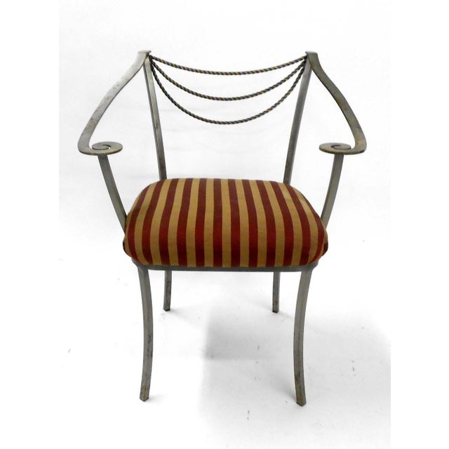 Neoclassical Inspired Metal Armchair - Image 3 of 8