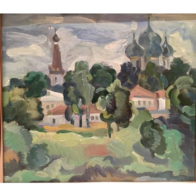 Original Oil on Burlap Landscape Painting - Image 2 of 10