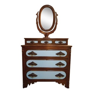 Antique Victorian 3 Over Three Dresser
