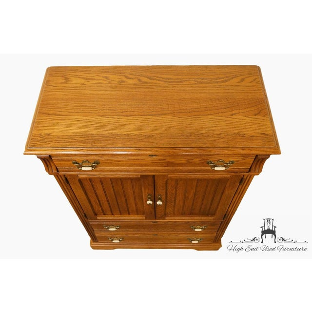 Dixie Dixie Country French Solid Oak Chest For Sale - Image 4 of 13