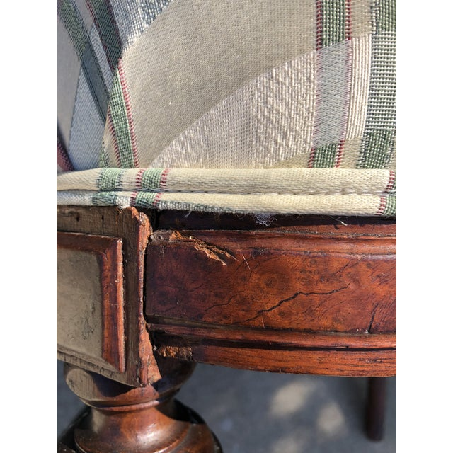 Antique Eastlake Plaid Upholstered Side Chair For Sale - Image 11 of 13