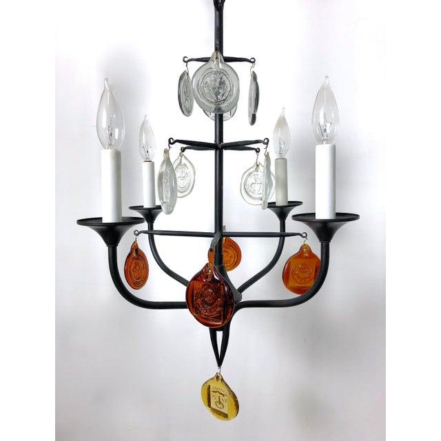 1950 erik hoglund iron glass candelabra chandelier chairish 1950 erik hoglund iron glass candelabra chandelier image 3 of 12 aloadofball Image collections