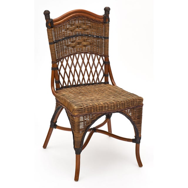 English Traditional English Wicker Chairs and Table Set For Sale - Image 3 of 10