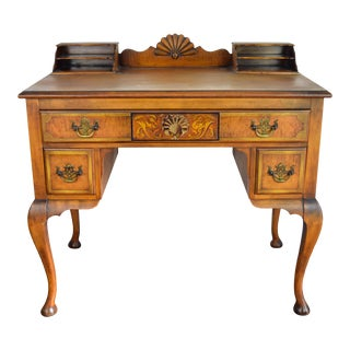 19th Century Traditional Johnson Furniture Grand Rapids Fruitwood Writing Desk For Sale
