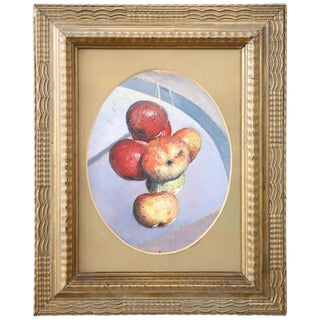 20th Century Italian Oil Painting on Wood Panel by Valentino Ghiglia For Sale