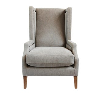 Clyde Linen High Back Occasional Chair For Sale