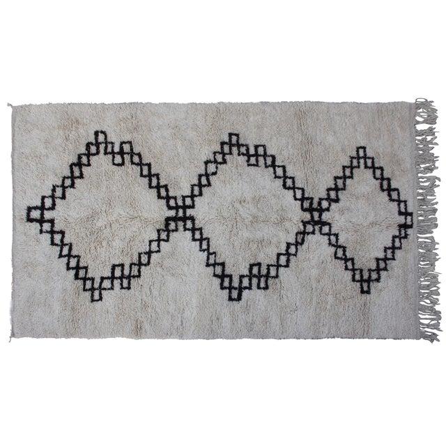 Vintage Moroccan Beni Ourain Rug - 10'6'' X 6'5'' - Image 1 of 4