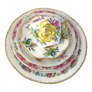 Garden Flowers Mismatched Dinner Set - Set of 5